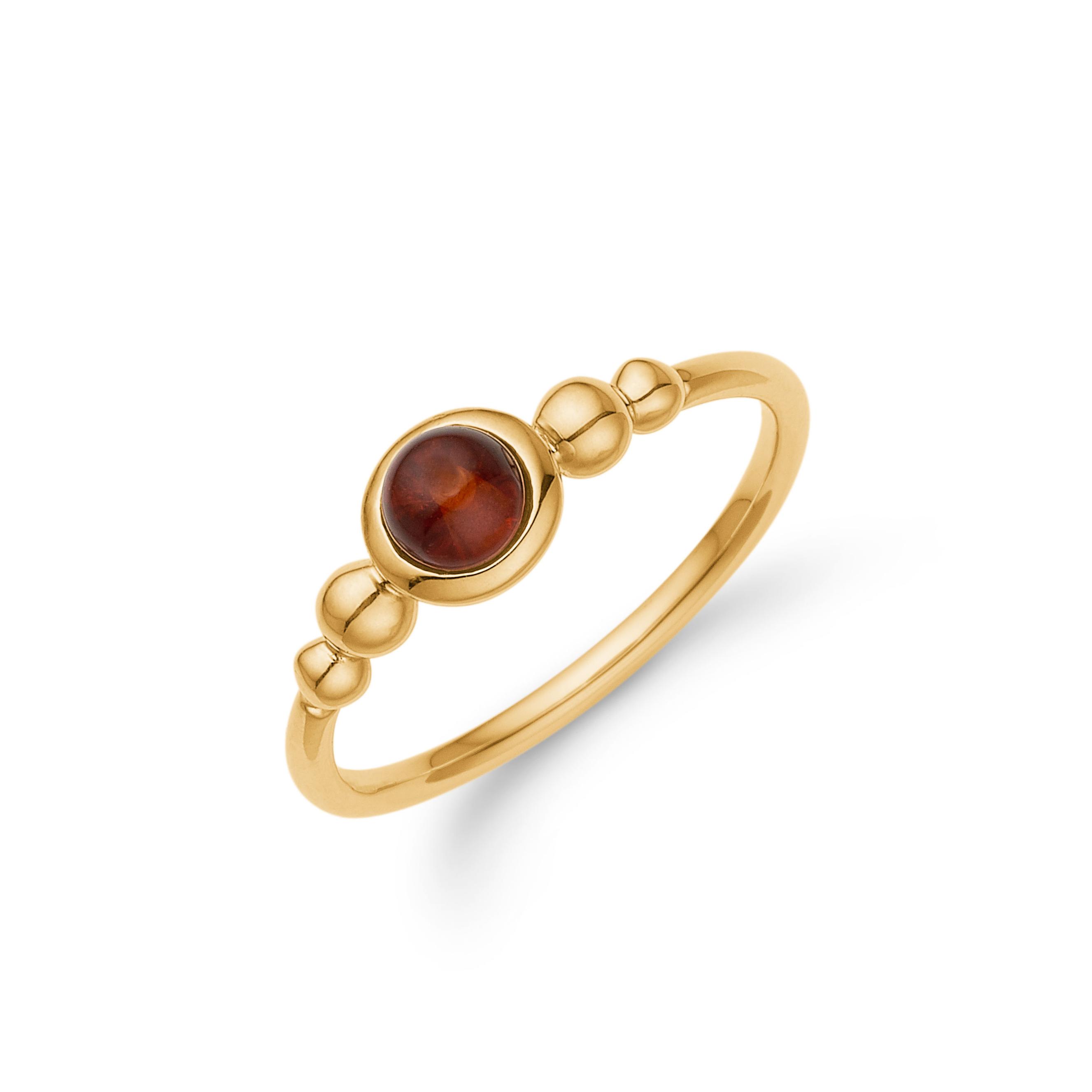 Guld ring med rav - Grindsted Guldsmed 1cb101c817c72