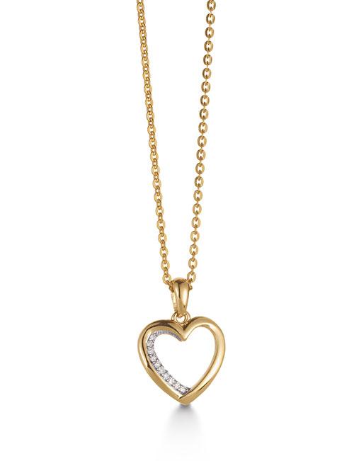 Aagaard 14kt Guld Halskæde M. Diamanter - Grindsted Guldsmed 399052cca4bff
