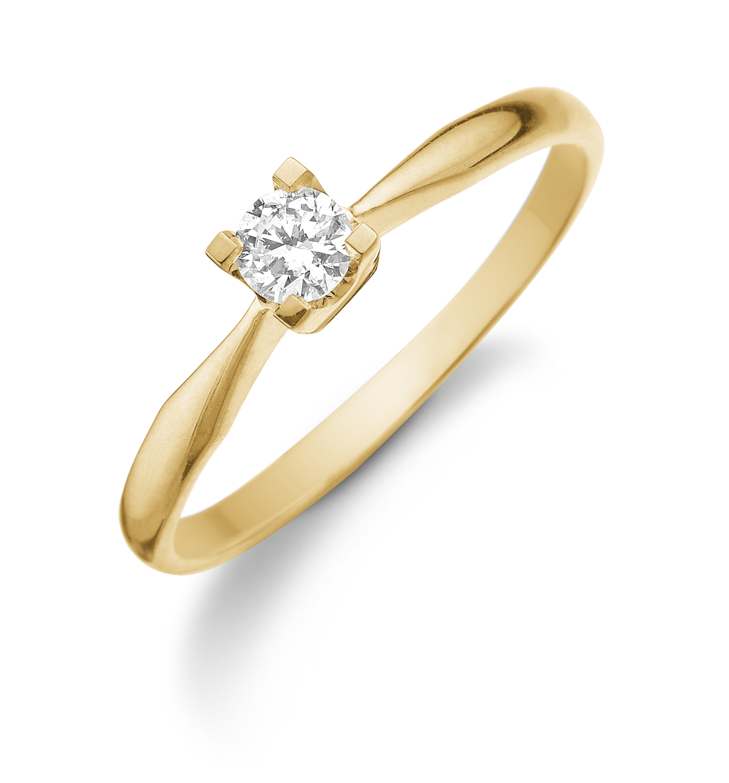 Aagaard Dagmar 14kt Guld Ring M. Brillant - Grindsted Guldsmed 9ae2cc8bdeec2